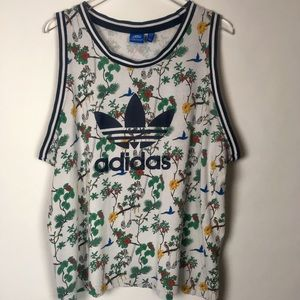 Vintage inspired Adidas Tank with Rare Print XL